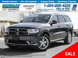 2016 Dodge Durango Limited *Sunroof, Climate Control, Leather Se