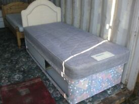 BARGAIN MODERN SINGLE DIVAN BED WITH MATTRESS. UNDERBED STORAGE. VIEWING/DELIVERY AVAILABLE