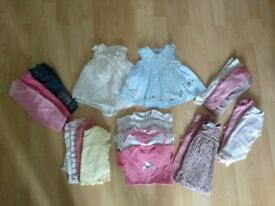 Girls 0-3 months clothing bundle (26 items)
