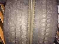 2 x commercial van or camper tyres 215/75 16C. 7mm tread