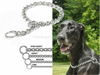 Coastal-Titan Chrome Choke Chain Dog Training Collar.Different Sizes-Free -