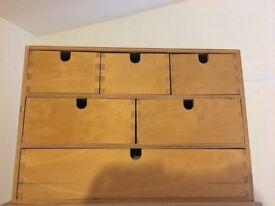 Small wooden storage