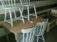 Pine dining set inc 4x chairs