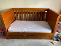 Mama & Papa dark oak cot / bed