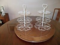 3 TIER CAKE STANDS for total of 36 CUPCAKES 2 matching ( each takes 18 cupcakes)