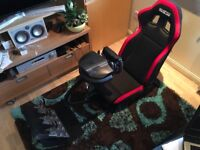 Racing cockpit Thrustmaster T500RS steering wheel and pedal set