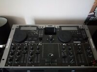 Numark icdmix3, amp and speakers