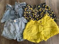 Zara girls shorts (age 10) - 4 pairs bundle