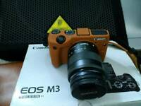Canon EOS M3 + EF-M 15-45mm and 18-55mm IS STM Lens 64GB Bundle VGC