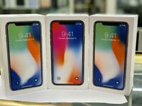 UNLOCKED 256GB BRAND NEW SEALED BOXED IPHONE X OPEN ON ALL NETWORK AND APPLE WARRANTY