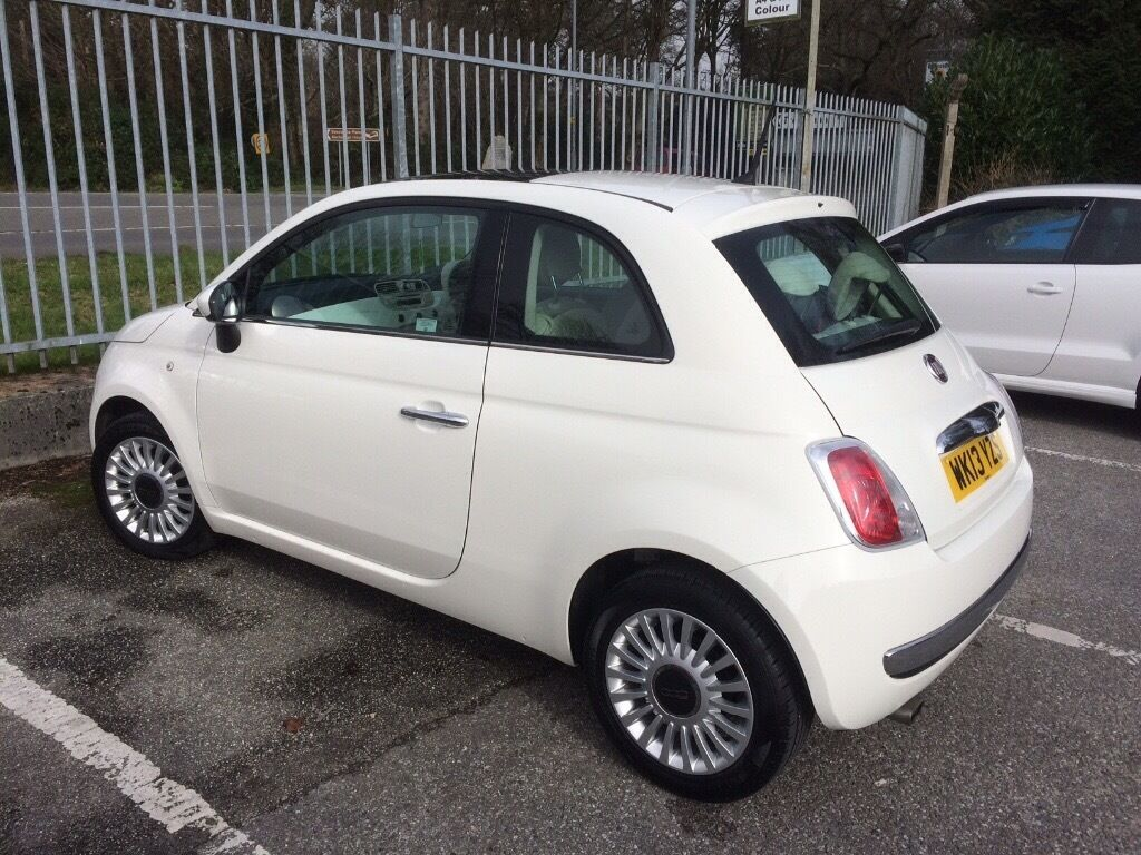 fiat 500 lounge stop start 2013 31k miles fsh panoramic roof bluetooth great spec in. Black Bedroom Furniture Sets. Home Design Ideas