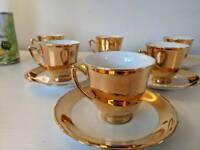 RGK Czechoslovakia Pottery teacups x 6