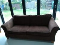 3 seater sofa brown (Marks & Spencer)