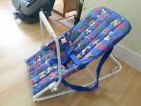 Baby Rocker seat with carry handles & activity bar