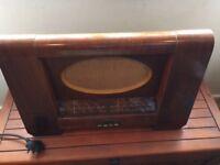 Vintage HMV valve radio circa 1955