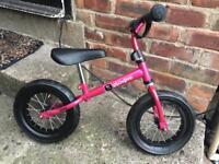 Pink kids balance bike NEW