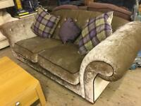 Large chenille Sofa and ex large Love chair