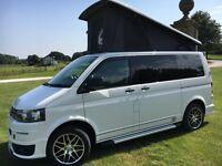 VW Transporter T5 camper 2015, pop top, Propex gas heater, Tv, toilet warranty
