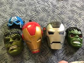 Marvel tall figures and masks