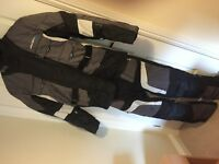 Spada Dakar Textile Motorcycle 2peice Suit Waterproof. Large jacket Medium trouser As New