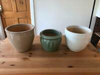 3 large plant pots, can sell separately