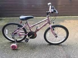 Raleigh girls bike aged 6-10 yrs