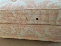 Double bed and headboard, no marks or stains