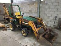 John deere 655 digger loader compact tractor