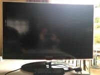 """Samsung 32"""" flat screen TV for sale - Near new condition, inc. HDMI to SCART converter cable"""