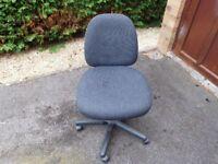 Dark grey office swivel chair