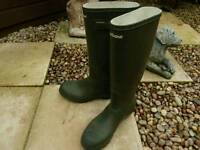 Barbour Welly boots. Size 5. Green.