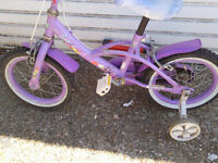 SCHWALBE DISNEY FAIRIES GIRLS BIKE WITH STABLISA WHEELS £20