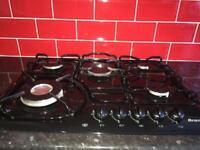 5 Burner Hob + Black Sink + Oven