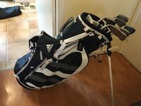 NIKE VR IRONS 4 - PW - (used) with RARE ADIDAS GOLF STAND BAG (Unused)