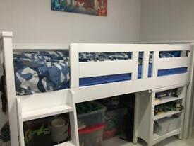 Cabin bed with ladders & Desk