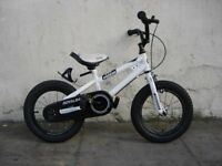 Kids Bike, by Royal Baby, White, 14 inch Wheels Great for Kids 4 Years, JUST SERVICED/ CHEAP PRICE!!