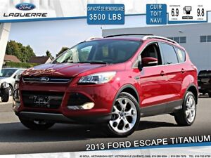 2013 Ford Escape TITANIUM**AWD*CUIR*TOIT *NAVI*A/C*BLUETOOTH**