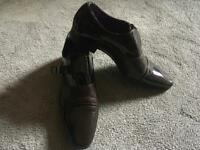 Elong casual men's brown shoes size 7.5/41 used one time perfect condition £10