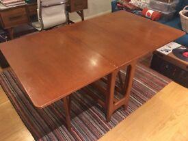 Retro fold down table