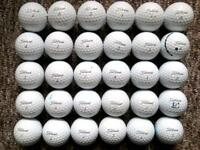30 Titleist PROV1s Grey Stripe in immaculate condition