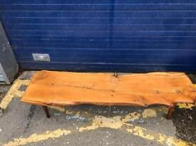RECLAIMED LIVE WOOD COFFEE TABLE/ BENCH - ANTIQUE VINTAGE RETRO