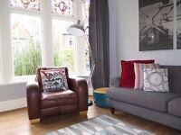 Brown Leather JOHN LEWIS Club Armchair Chair