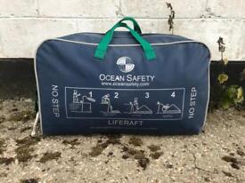 Liferaft 8 man ocean safety valise