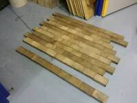 Smoked Oak parquet blacks