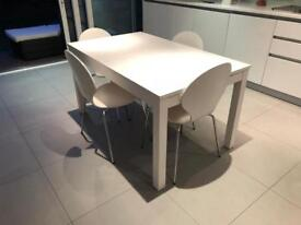 IKEA extendable table & 4 John Lewis Chairs