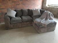 NEW corner chaise cord sofa - available in many colours - U.K. Delivery