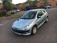 Peugeot 206 1.1 fever only 50800 miles