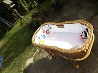 Beautiful Vintage 1950's Moses Basket & Stand