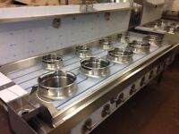 CHINESE WOK COOKER, NEW, 5+4, CHOICE OF BURNERS, NATURAL GAS OR LPG, REMOVABLE CAST IRON RINGS £3600