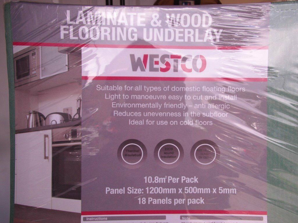2 Packs Of Unopened Westco General Purpose Laminate Wood Flooring Underlay From Wickes 25 Stockists